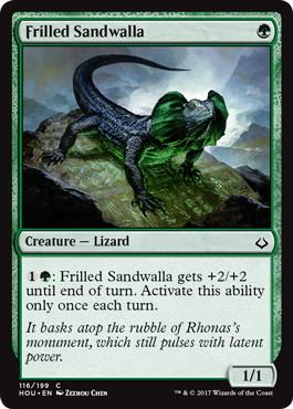 《エリマキサンドワラ/Frilled Sandwalla》[HOU] 緑C