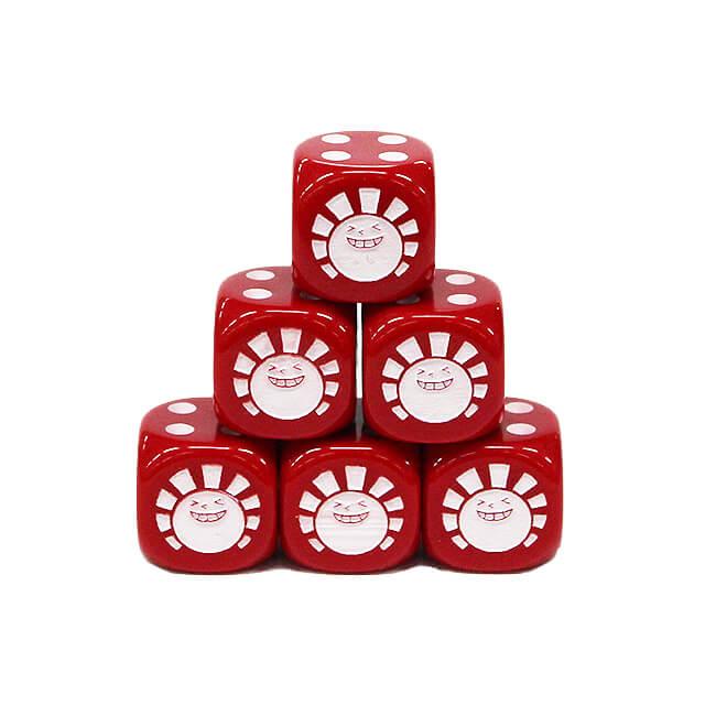 Hareruya Original Dice 16mm 6sided (6-dice) Red