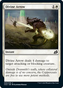 《神聖なる矢/Divine Arrow》[IKO] 白C