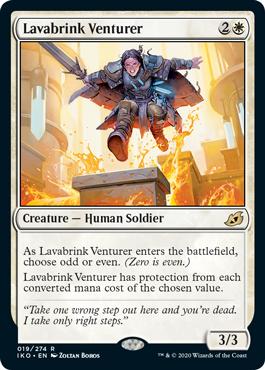 《ラバブリンクの冒険者/Lavabrink Venturer》[IKO] 白R