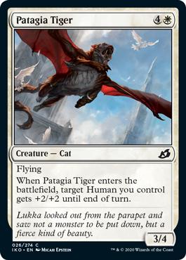 《翼膜の虎/Patagia Tiger》[IKO] 白C