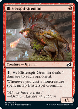 《火傷吐きグレムリン/Blisterspit Gremlin》[IKO] 赤C
