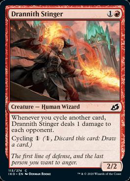 《ドラニスの刺突者/Drannith Stinger》[IKO] 赤C