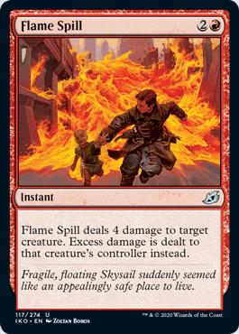 《炎の氾濫/Flame Spill》[IKO] 赤U