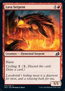 《溶岩の海蛇/Lava Serpent》[IKO] 赤C