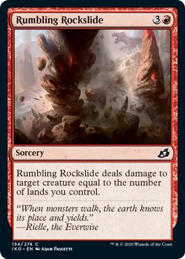 《轟く岩滑り/Rumbling Rockslide》[IKO] 赤C