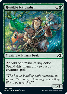 《謙虚な自然主義者/Humble Naturalist》[IKO] 緑C