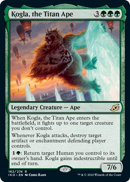 《巨大猿、コグラ/Kogla, the Titan Ape》[IKO] 緑R