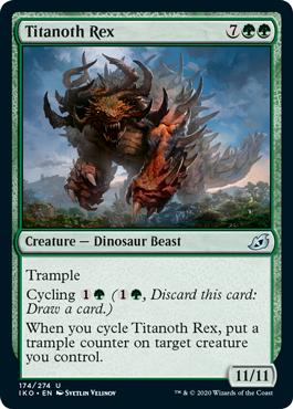 《タイタノス・レックス/Titanoth Rex》[IKO] 緑U