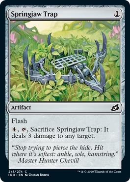 《トラバサミ/Springjaw Trap》[IKO] 茶C