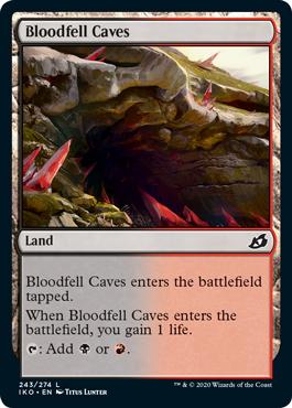 《血溜まりの洞窟/Bloodfell Caves》[IKO] 土地C
