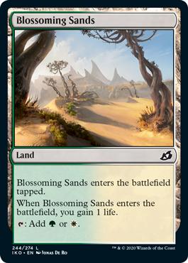 【Foil】《花咲く砂地/Blossoming Sands》[IKO] 土地C