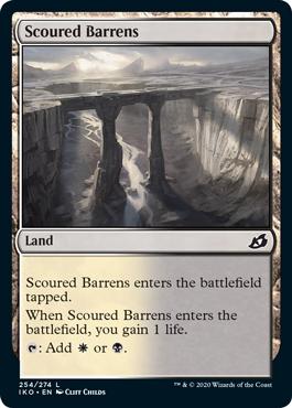 《磨かれたやせ地/Scoured Barrens》[IKO] 土地C