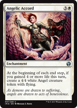 【Foil】《天使の協定/Angelic Accord》[IMA] 白U