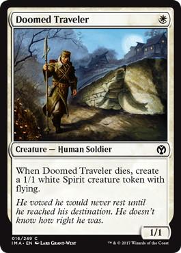 【Foil】《宿命の旅人/Doomed Traveler》[IMA] 白C
