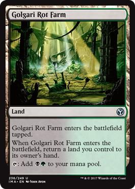 《ゴルガリの腐敗農場/Golgari Rot Farm》[IMA] 土地U
