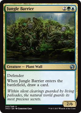 《ジャングルの障壁/Jungle Barrier》[IMA] 金U