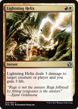 《稲妻のらせん/Lightning Helix》[IMA] 金U