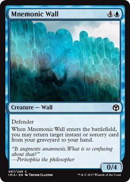 《記憶の壁/Mnemonic Wall》[IMA] 青C