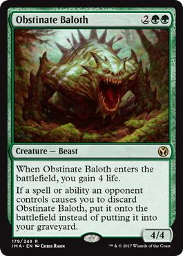《強情なベイロス/Obstinate Baloth》[IMA] 緑R