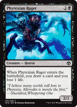 《ファイレクシアの憤怒鬼/Phyrexian Rager》[IMA] 黒C