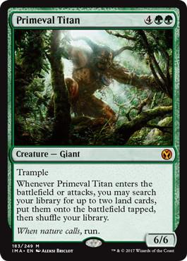 《原始のタイタン/Primeval Titan》[IMA] 緑R