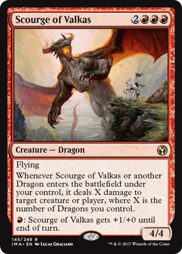 《ヴァルカスの災い魔/Scourge of Valkas》[IMA] 赤R