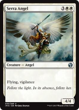 【Foil】《セラの天使/Serra Angel》[IMA] 白U