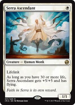 《セラの高位僧/Serra Ascendant》[IMA] 白R