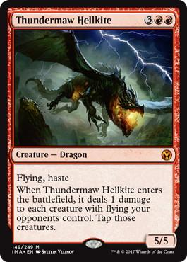 《雷口のヘルカイト/Thundermaw Hellkite》[IMA] 赤R