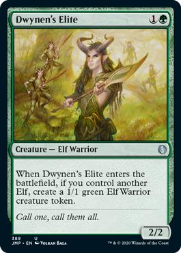 《ドゥイネンの精鋭/Dwynen's Elite》[JMP] 緑U