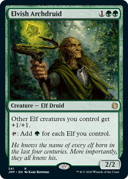 《エルフの大ドルイド/Elvish Archdruid》[JMP] 緑R