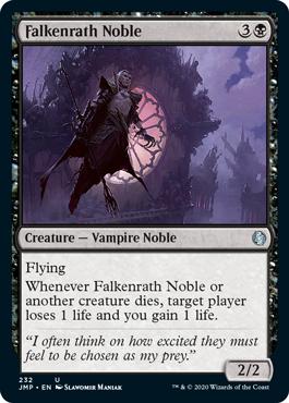 《ファルケンラスの貴族/Falkenrath Noble》[JMP] 黒U