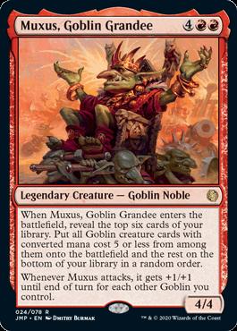 《上流階級のゴブリン、マクサス/Muxus, Goblin Grandee》[JMP] 赤R