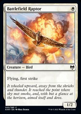《戦場の猛禽/Battlefield Raptor》[KHM] 白C