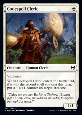 《掟綴りの僧侶/Codespell Cleric》[KHM] 白C