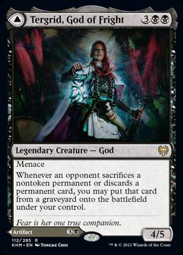 《恐怖の神、ターグリッド/Tergrid, God of Fright》[KHM] 黒R