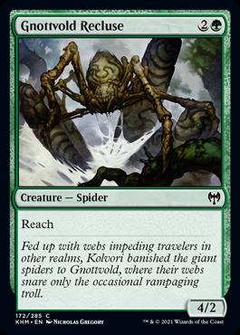 《ノットヴォルドのイトグモ/Gnottvold Recluse》[KHM] 緑C