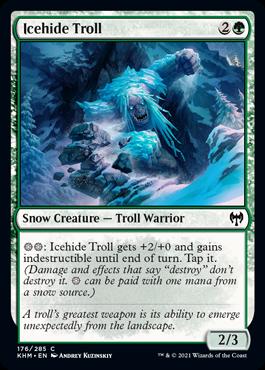 《氷皮のトロール/Icehide Troll》[KHM] 緑C