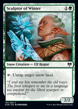 《冬を彫る者/Sculptor of Winter》[KHM] 緑C