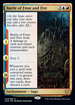 《霜と火の戦い/Battle of Frost and Fire》[KHM] 金R