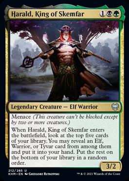 《スケムファーの王、ヘラルド/Harald, King of Skemfar》[KHM] 金U