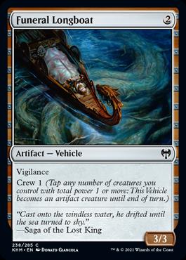 《葬送の長艇/Funeral Longboat》[KHM] 茶C