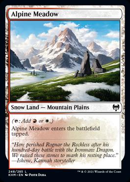 《高山の草地/Alpine Meadow》[KHM] 土地C