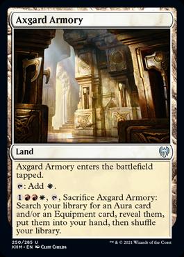 《アクスガルドの武器庫/Axgard Armory》[KHM] 土地U