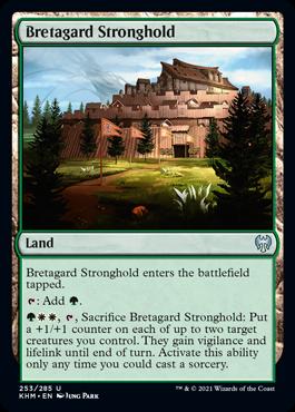 《ブレタガルドの要塞/Bretagard Stronghold》[KHM] 土地U