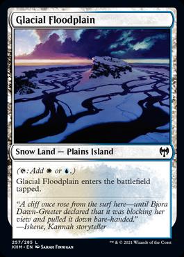《氷河の氾濫原/Glacial Floodplain》[KHM] 土地C