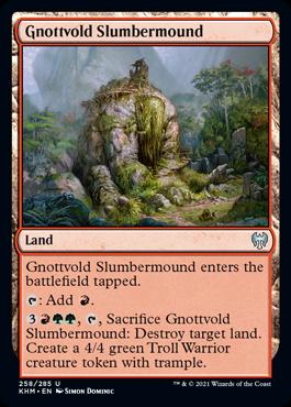 《ノットヴォルドの眠り塚/Gnottvold Slumbermound》[KHM] 土地U