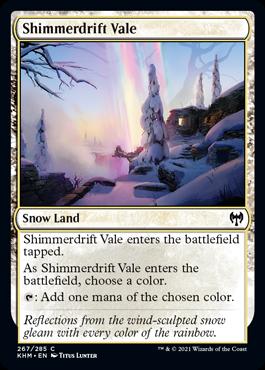 《煌積の谷間/Shimmerdrift Vale》[KHM] 土地C
