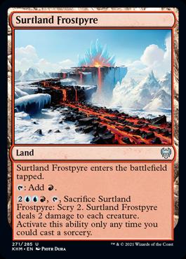 《セルトランドの凍炎/Surtland Frostpyre》[KHM] 土地U